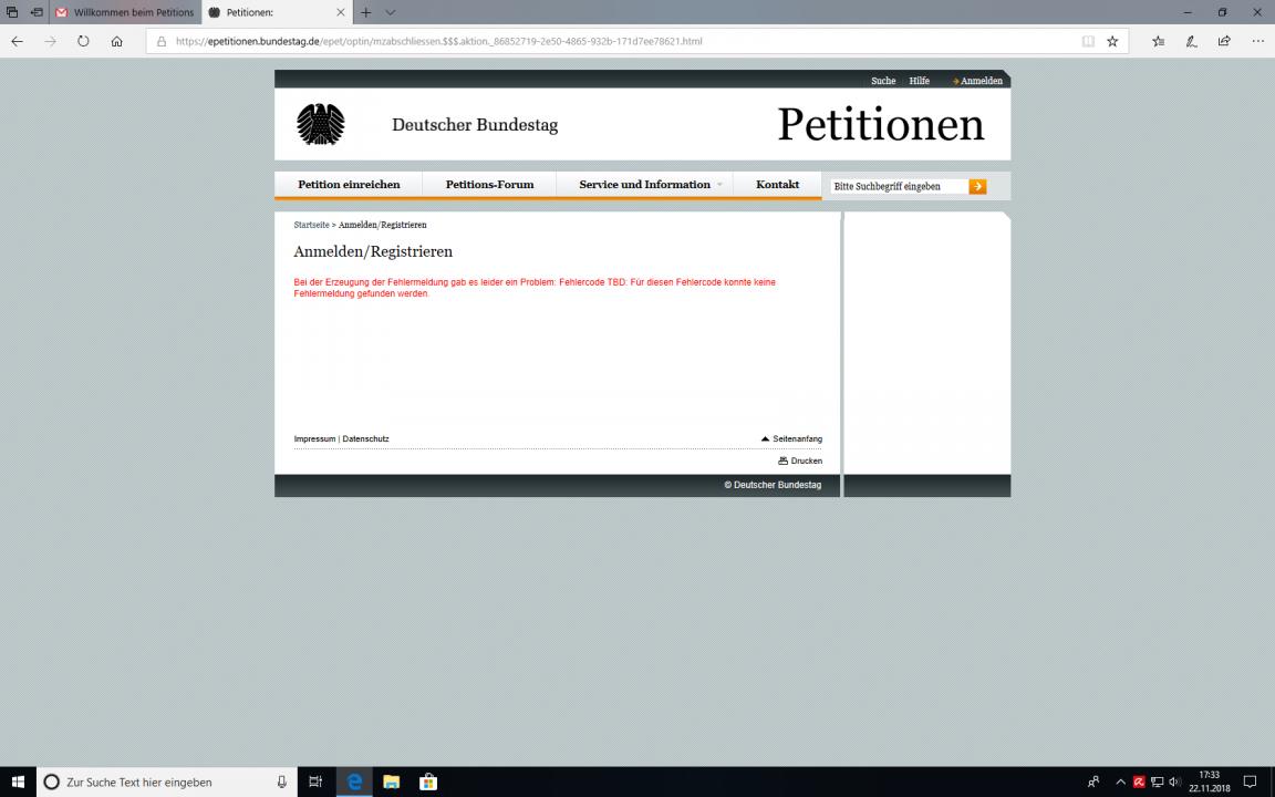 Willkommen beim Petitionsausschuss des Deutschen Bundestages